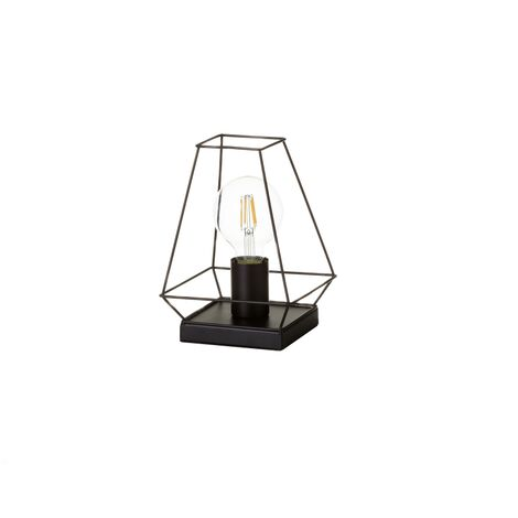 Lámpara led para mesita de noche industrial negra de 22x15x15 cm