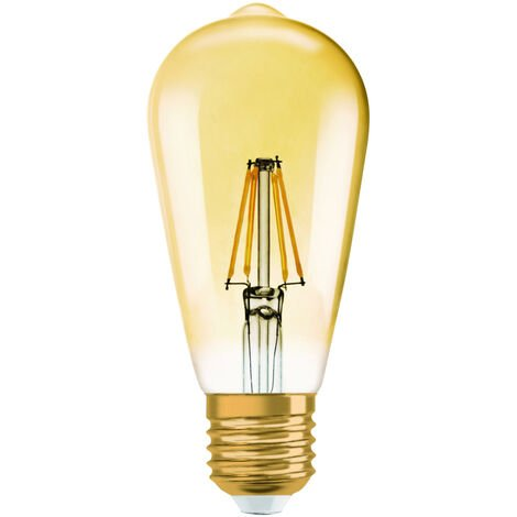Lámpara Led pera filamento edición Vintage 1906 Osram E27 4W 2400°K 410Lm. (Osram 962095)