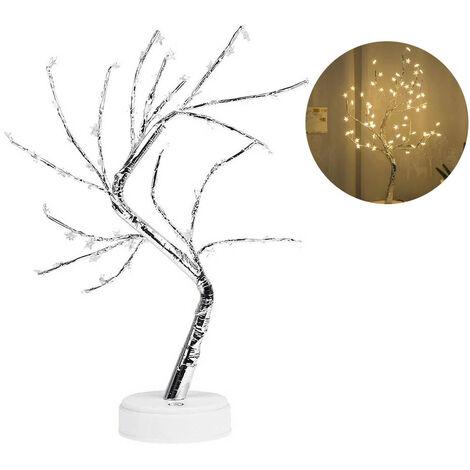 Lampara LED plegable con forma de arbol de cobre BZ1272, lampara en maceta, lampara de noche de cobre para el hogar