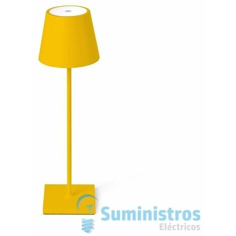 Lampara led portatil Exterior Faro Barcelona TOC 70778 amarillo