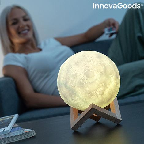 Lámpara Led Recargable Luna Moondy Innovagoods
