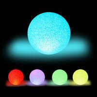 Lámpara LED redonda, Cambio de color, A pilas, Sin cable, Interior, Multicolor, Ø 15 cm, Blanco