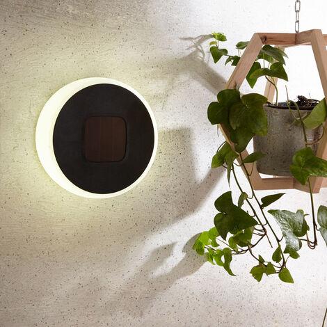 Lámpara LED solar Benka forma disco, redonda 20 cm