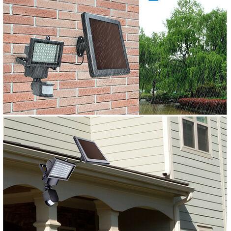 Lámpara Led Solar Calle Jardín con Mando a Distancia y Sensor de Movimientos