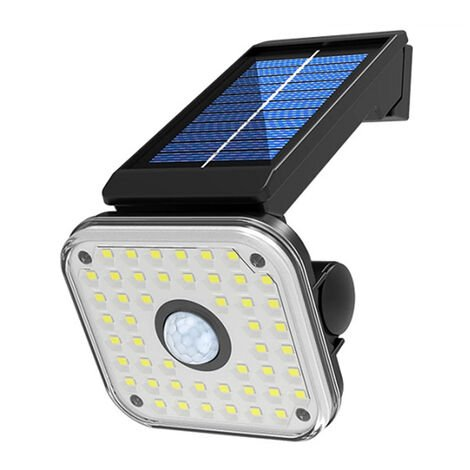 Lampara LED solar de la calle humano induccion giratoria Lampara de pared Lampara modos de iluminacion 3 3 ~ 5 m inductivo Distancia impermeable IP65 luz blanca SMD 48 54 54 SMD COB, Negro, 48 LED SMD