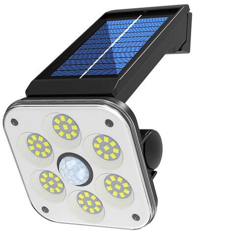 Lampara LED solar de la calle humano induccion giratoria Lampara de pared Lampara modos de iluminacion 3 3 ~ 5 m inductivo Distancia impermeable IP65 luz blanca SMD 48 54 54 SMD COB, Negro, 54 LED SMD