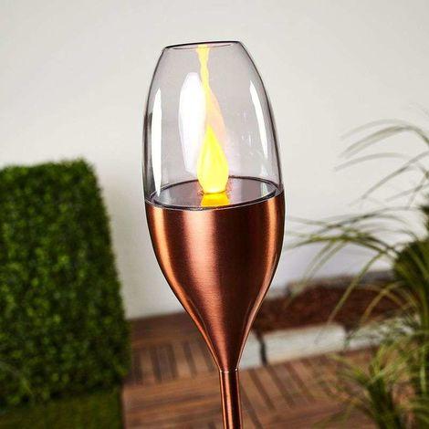 Lámpara LED solar Jari color cobre para jardín