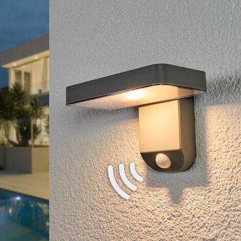 Lámpara LED solar Maik sensor, montaje en pared
