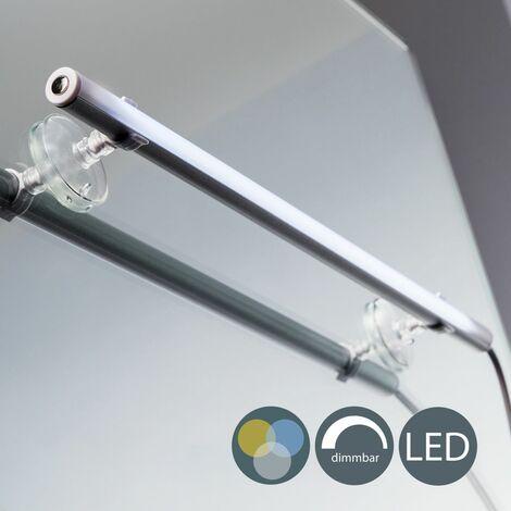Lámpara LED táctil 4W para espejo 29cm, 4 niveles de luminosidad, Luz de maquillaje de baño, Temperatura de color 2700-6500K, IP20