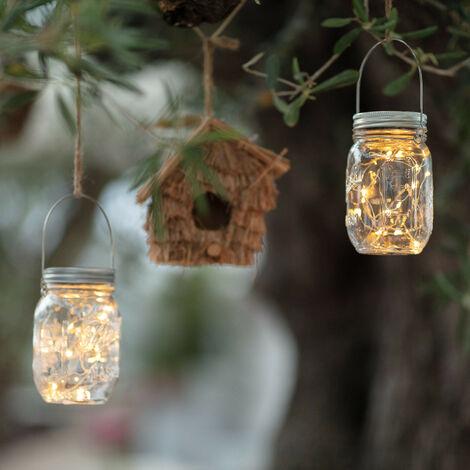 Lámpara LED Tarro Solar Blanco Cálido 2700K - 3200K