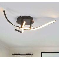 Lámpara LED techo Milane marrón atenuable 3 niv.