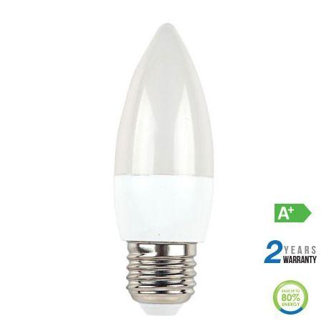 Lámpara LED vela efecto llama Cross Filament E14 2700K 4W 300°