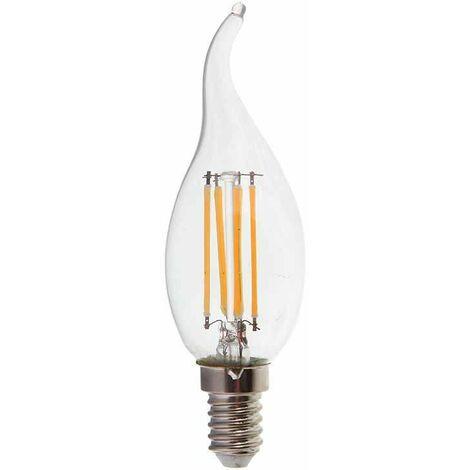 Lámpara led vela efecto llama filamento E14 2700K 4W 300° Regulable