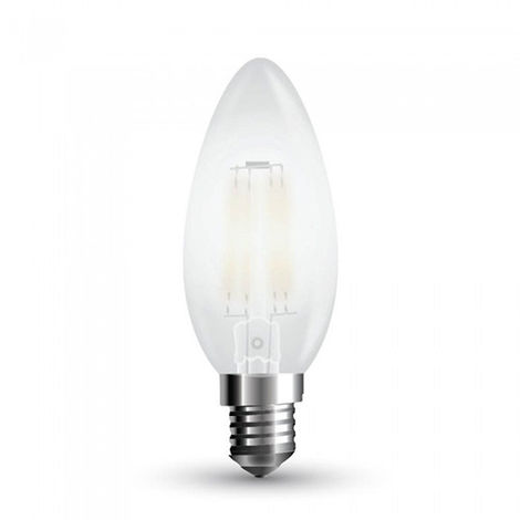 Lámpara LED vela Filament Frost Cover E14 2700K 4W 300° Regulable