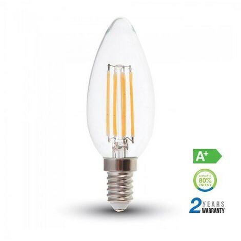 Lámpara LED vela filamento E14 6W 300