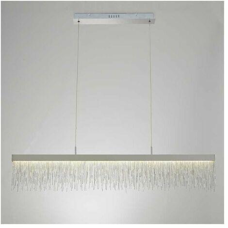 Lámpara lineal 33W led CINNA cromo para comedor