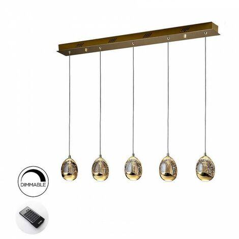 Lámpara lineal 4 luces ROCIO ORO LED DIMABLE de Schuller