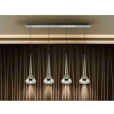 Lámpara lineal 4L ·AXEL· CROMO de Schuller