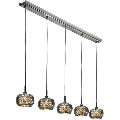 Lámpara lineal ARIAN Schuller 5 luces DIMABLE