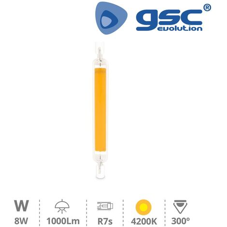 Lámpara lineal LED COB 118mm R7s 8W 4200K