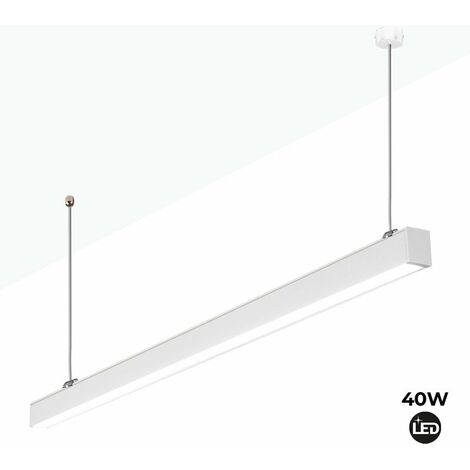 Lámpara lineal LED de suspensión 120cm 40W 3400lm