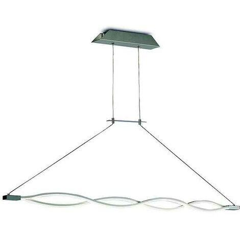 Lámpara lineal led SAHARA DIMABLE plata-cromo para comedor