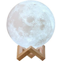 Lámpara Luna LED 3D