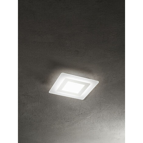 Lámpara luz empotrada LED cuadrada blanc PERENZ PERENZ-6361BLN