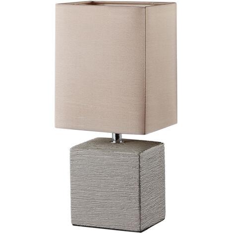 Lámpara marrón cerámica de sobremesa modelo Ping E14 (Trio Lighting R50131026)