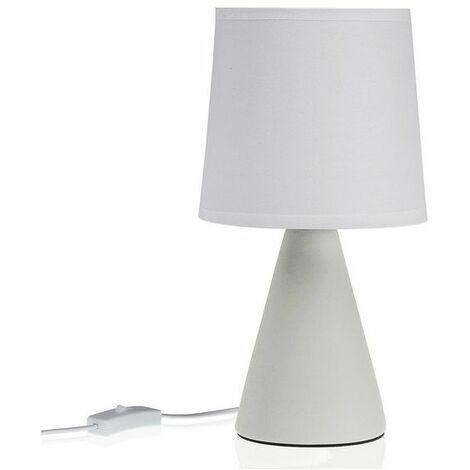 lampara mesa triángulo blanca 25x13