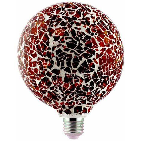Lámpara modelo Tiffany con cristal 4W naranja G125 (F-Bright 2601966-NA)