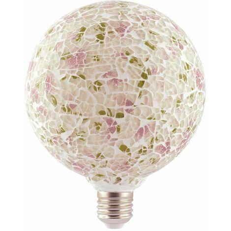 Lámpara modelo Tiffany con cristal 4W rosa G125 (F-Bright 2601966-RO)