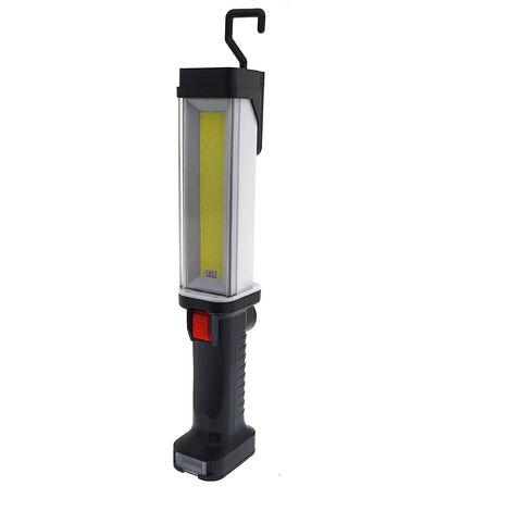 lámpara multiuso recargable con 30 led+linterna 7 led. incluye cargadores de batería a red y auto