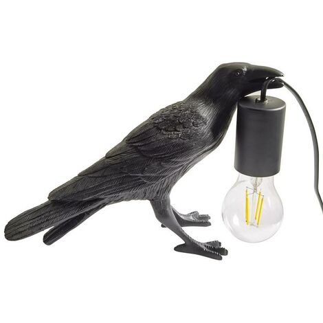 "main image of ""Lámpara pájaro de mesa ""Corb"" | Bird series | Negro"""