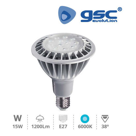 Lámpara PAR30 LED SMD 15W E27 6000K