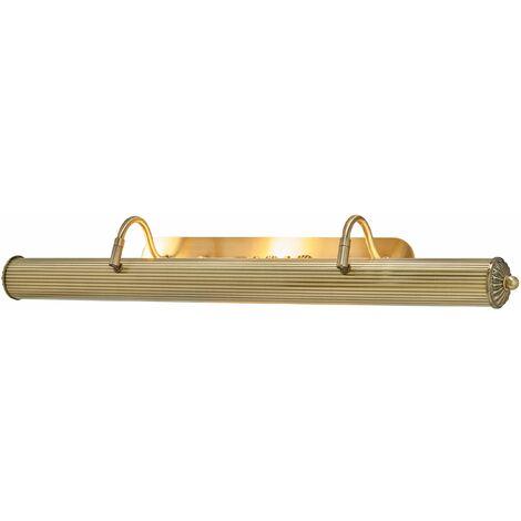 Lámpara para cuadros Joely larga, latón envejecido