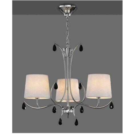 Lámpara para dormitorio clasico ANDREA cromo