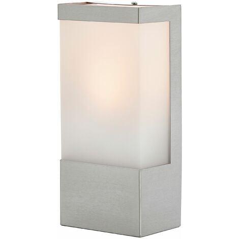 Lámpara pared ext acero inox cuadrada Kirana