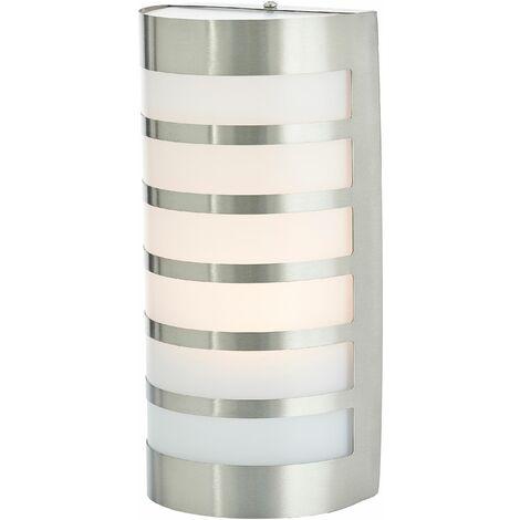 Lámpara pared ext acero inox decorativa Alvin
