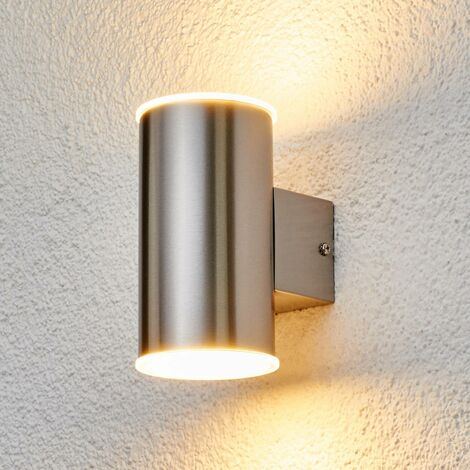 lámpara pared ext. acero inox. Morena con LED