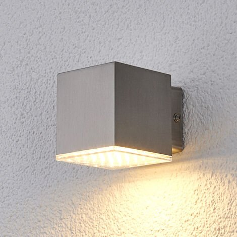 lámpara pared ext. LED compata Lydia acero inox.
