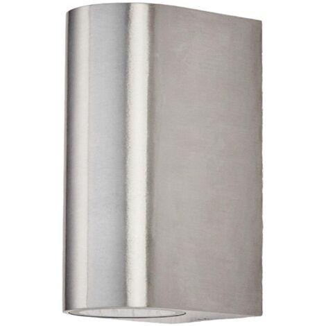 Lámpara pared exterior aluminio de 2 focos Idris