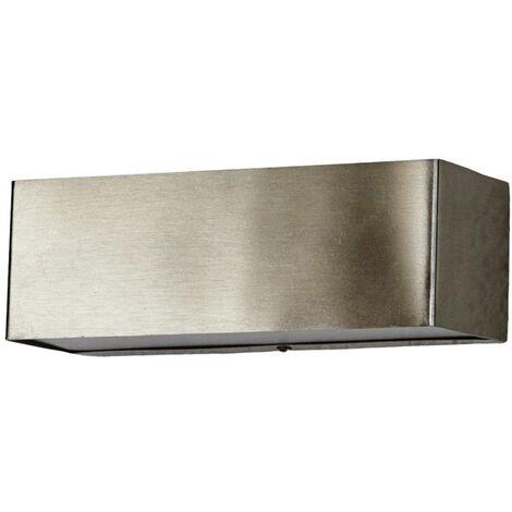 Lámpara pared exterior LED Alicja de acero inox