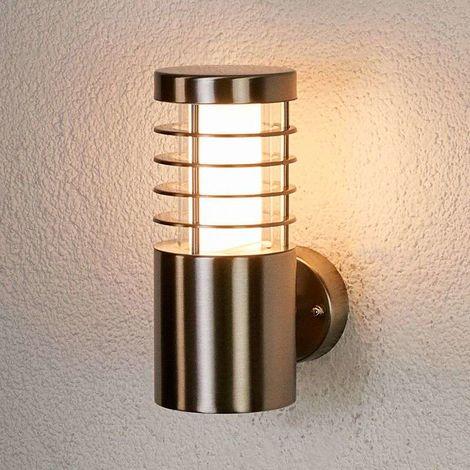 Lámpara pared exterior LED Dila de acero inox