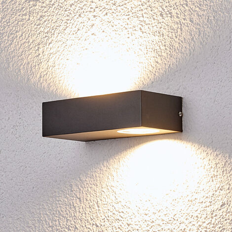 Lámpara pared exterior LED gran efecto Loredana