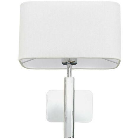 Lámpara pared Jettka pantalla textil e interruptor