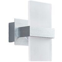 Lámpara pared LED Yorick, pantalla plástico blanca