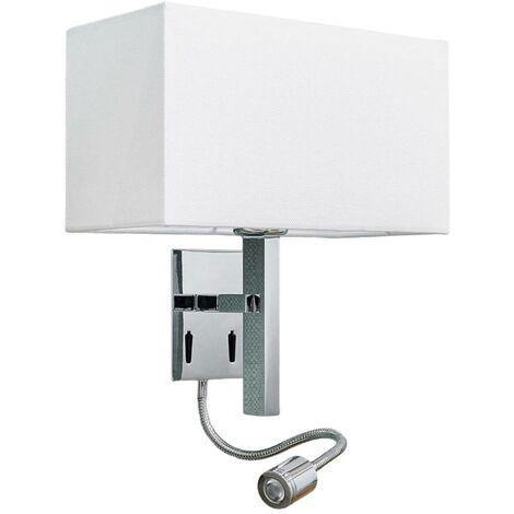 Lámpara pared Pelto brazo lectura, 2 interruptores