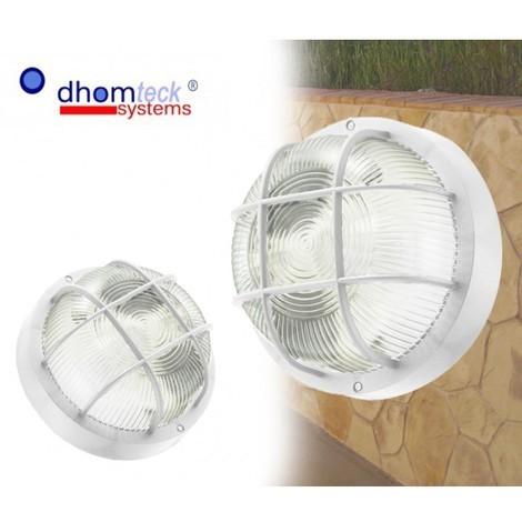 Lámpara pared REDONDA de rejilla E27 DHOMTECK (ideal para jardín)