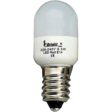 Lámpara pebetera Led colores E14 0,3W amarillo 22x53mm. (F-BRIGHT 2601494-AM)
